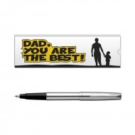 Parker Frontier Stainless Steel CT Roller Ball Pen with Dad Quote 1