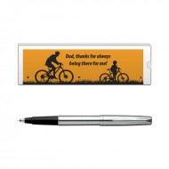Parker Frontier Stainless Steel CT Roller Ball Pen with Dad Quote 2