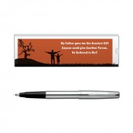 Parker Frontier Stainless Steel CT Roller Ball Pen with Dad Quote 5