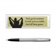 Parker Frontier Stainless Steel CT Roller Ball Pen with Dad Quote 6