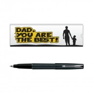 Parker Frontier Matte Black CT Roller Ball Pen with Dad Quote 1