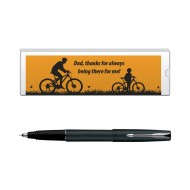 Parker Frontier Matte Black CT Roller Ball Pen with Dad Quote 2