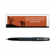 Parker Frontier Matte Black CT Roller Ball Pen with Dad Quote 5