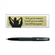 Parker Frontier Matte Black CT Roller Ball Pen with Dad Quote 6