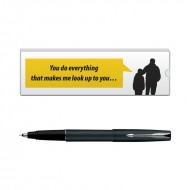 Parker Frontier Matte Black CT Roller Ball Pen with Dad Quote 7