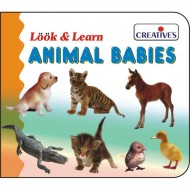 Creative's Look Learn Board Book Baby Animals