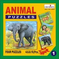 Creative's Animal Puzzle No. 1 4 to 10 Pieces