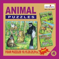 Creative's Animal Puzzle No. 4 10 to 25 Pieces