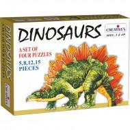Creative's Dinosaurs 4 Puzzles 5 to 15 Pcs.