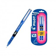 Pilot V5 Pen Pack of 2 Blue Pen