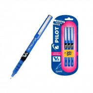 Pilot V5 Pen Pack of 3 Blue pen
