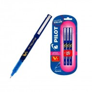 Pilot V7 Pack of 3 Blue Pen