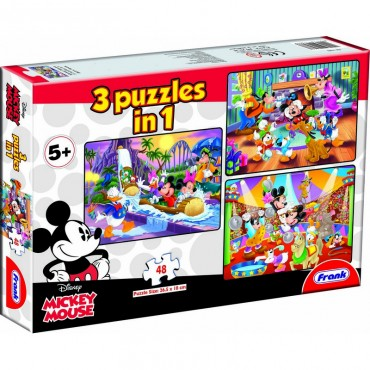 Frank Mickey Mouse & Friends 3 in 1 (3  x  48 Pcs)
