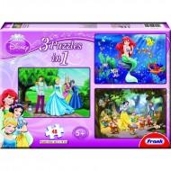 Frank Disney Princess 3 in 1 (3  x  48 Pcs)