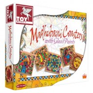 Toy Kraft Madhubani Coasters With Glass Painted