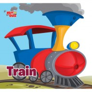 Train Cutout Board Book Om Books
