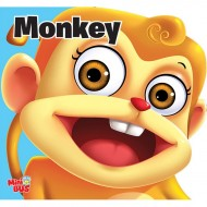 Monkey Cutout Board Book Om Books