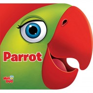 Parrot Cutout Board Book Om Books