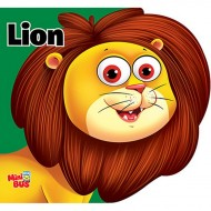 Lion Cutout Board Book Om Books