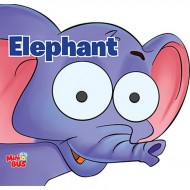 Elephant Cutout Board Book Om Books