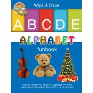 Wipe & Clean Alphabet Funbook Spiral Bound With Pen Om Books