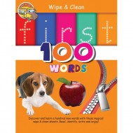 Wipe & Clean First 100 Words Spiral Bound With Pen Om Books