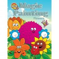 Magic Painting Flowers Sparkeling Paperback Om Books