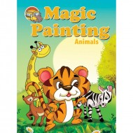Magic Painting Animals Sparkeling Paperback Om Books
