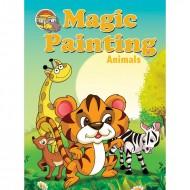 Magic Painting Animals Sparkeling Paperback Om Books