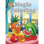 Magic Painting Fruits Sparkeling Paperback Om Books