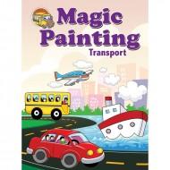 Magic Painting Transport Sparkeling Paperback Om Books