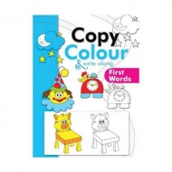 Copy Colour And Write Along First Words Paperback Om Books