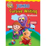 Jumbo Cursive Writing Workbook Binder Paperback Om Books