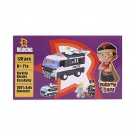 Chhota Bheem Mighty Raju Police Van Blocks 128 pcs