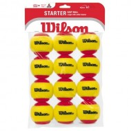 Wilson Starter Easy Balls Red 12 Pack Tennis Ball