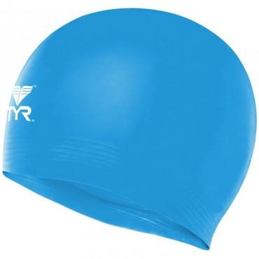 TYR Latex Swim Cap - Blue