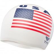 TYR Usa Silicone Cap - White