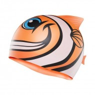 TYR Happy Fish Swim Silicone Cap - Orange