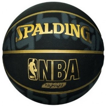 Spalding HIGHLIGHT Basket Ball - Size 7 (Black/Gold )