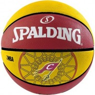 Spalding NBA Team CAVALIERS Basket Ball - Size 7 (Red/Yellow )