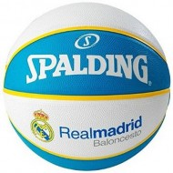 Spalding EURO REAL MADRID Basket Ball - Size 7 (White/Blue   )
