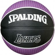 Spalding LOS ANGLES LAKERS Basket Ball - Size 7 (Purple/Black )