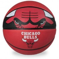 Spalding CHICAGO BULLS Basket Ball - Size 7 (Red/Black )