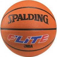 Spalding FLITE Basket Ball  - Size 7 (White/Blue/Brick )