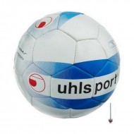 UHLSport White, Blue And Red Passion Rubber Football